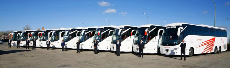 Coach hire in Madrid